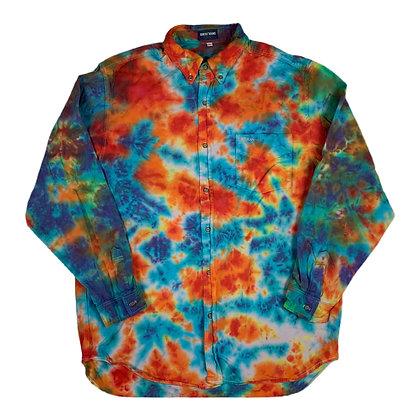 Vintage Guess Jeans L/S Tie Dye Button Shirt - L