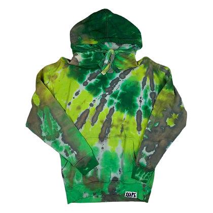 Blank Green/Grey L/S Tie Dye Hoodie -S