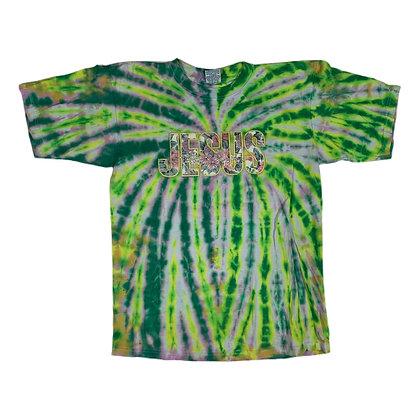 Vintage Jesus Floral Script Tie Dye Shirt - L