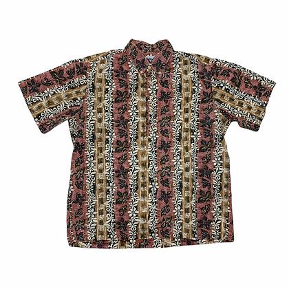 Vintage Reyn Spooner Red/Yellow Floral Hawaiian Shirt