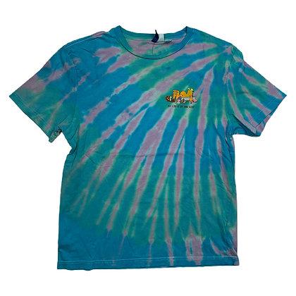 Garfield All I do is Eat and Sleep Tie Dye Shirt - M