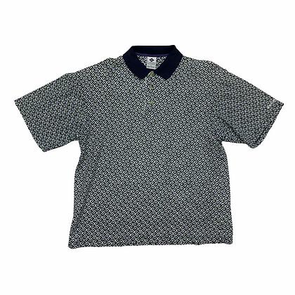 Vintage Columbia Sports All Over Print Golf Polo Shirt