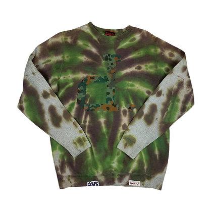 Diamond Supply Co. Camo D Tie Dye Sweatshirt - M