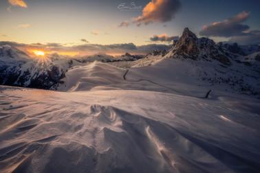 The Giau Pass - Winter
