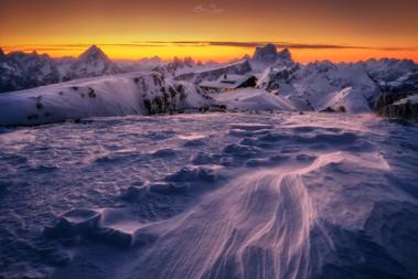 Lagazuoi in snow