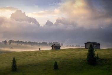 Fog on Alpe di Siusi
