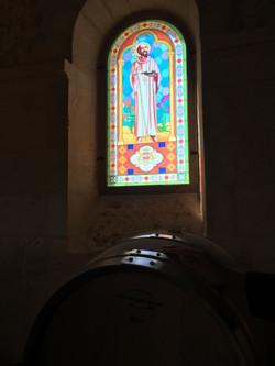 Vitrail de la chapelle rénovée