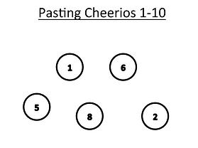 Pasting Cheerios 1-10