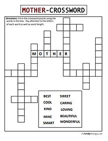Mother-Crossword