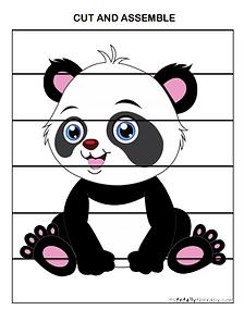 Cut and Assemble Panda