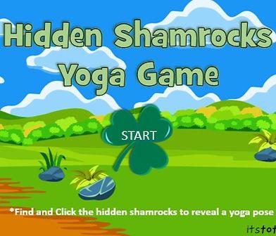 Hidden Shamrocks Yoga Game