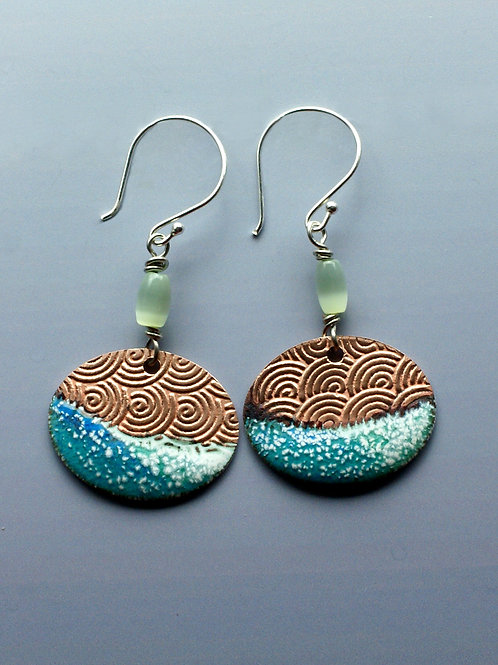 Dipped Landscape Dangle Earrings