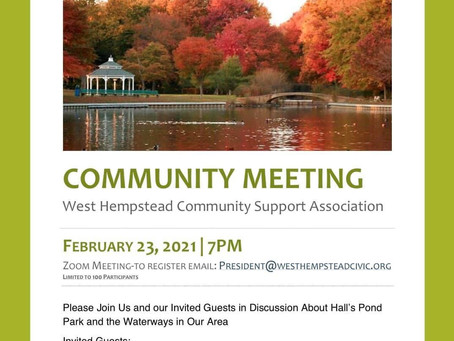 Upcoming community meeting