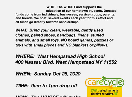 West Hempstead Community Scholarship Fund clothes Drive
