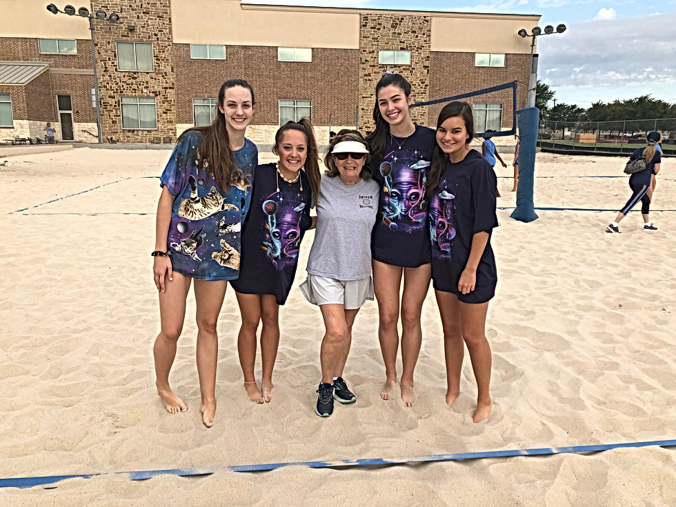 Frisco High School Lady Raccoons Volleyball Team FHS Raccoon Frisco TX Texas Beach Bash 2019