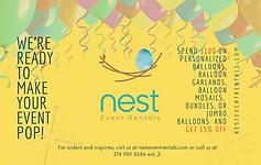 2021-2022 Sponsor - Nest Event Rentals