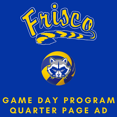 Game Day Program Ad | Quarter Page