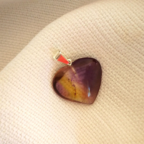 Pingente Coração Ametrino
