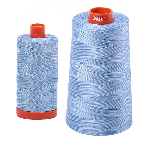 Aurifil Cotton Thread 50wt Variegated Stone Washed Denim 3770