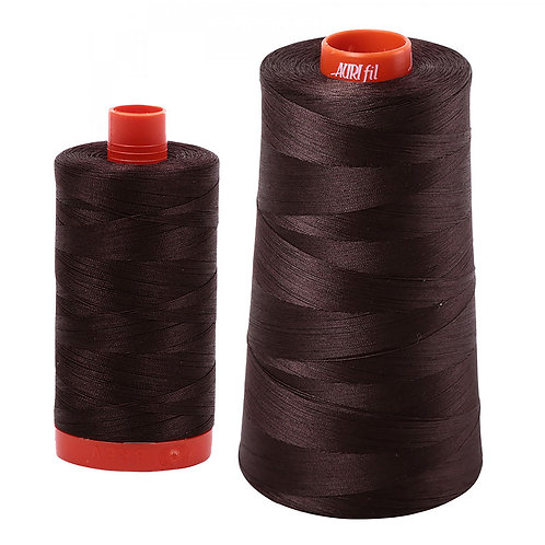 Aurifil Cotton Thread 50wt Dark Brown 5024