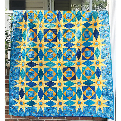 Starry Night Storm at Sea Quilt by Jean Ann Wright
