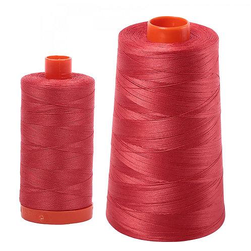 Aurifil Cotton Thread 50wt Dark Red Orange 2255