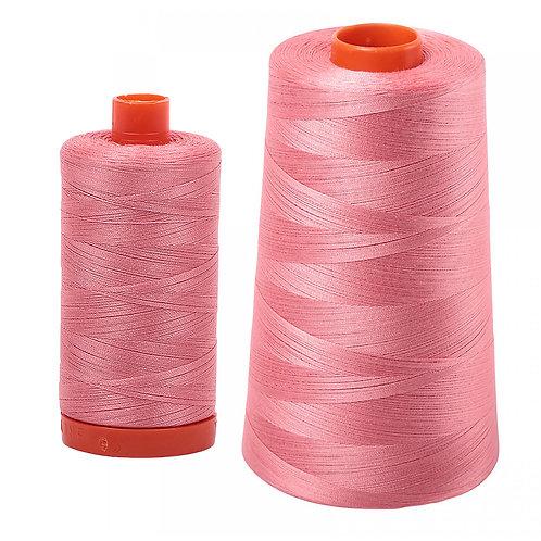 Aurifil Cotton Thread 50wt Peachy Pink 2435