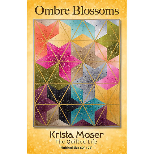 Ombre Blossoms Quilt by The Quilted Life