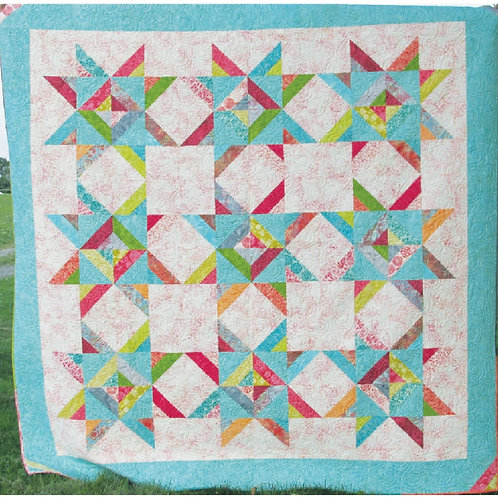 DoubleStrip Constellation Quilt Pattern by Terri Faust
