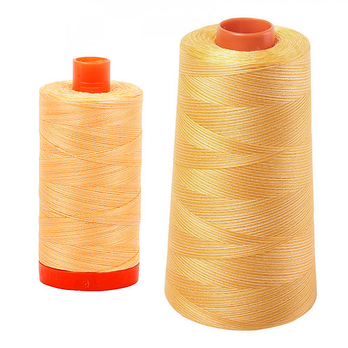 Aurifil Cotton Thread 50wt Variegated Golden Glow 3920