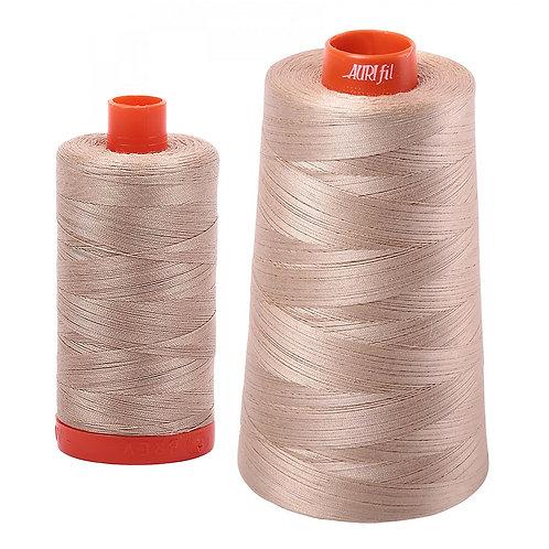 Aurifil Cotton Thread 50wt Sand 2326