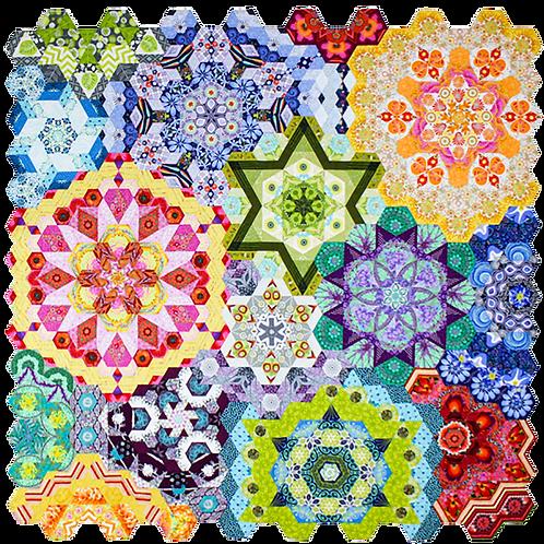 Rosette Millefiori EPP Sets by Katja Marek