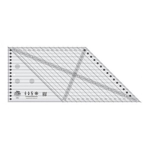 CGREU2-Creative Grids 45 Degree Diamond Dimensions Ruler