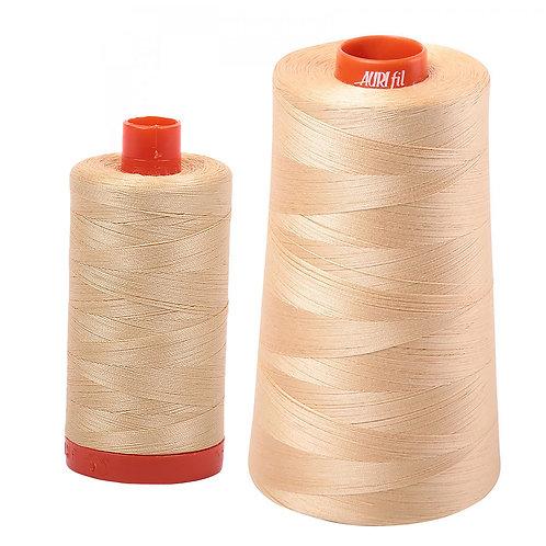 Aurifil Cotton Thread 50wt Light Caramel 6001