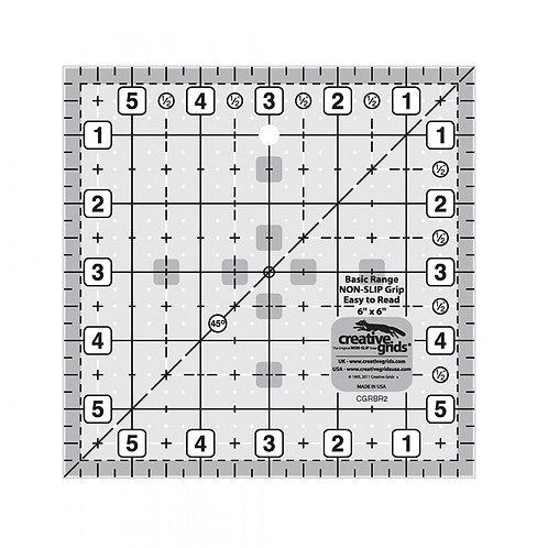 Creative Grids Basic Range 6in Square Quilt Ruler
