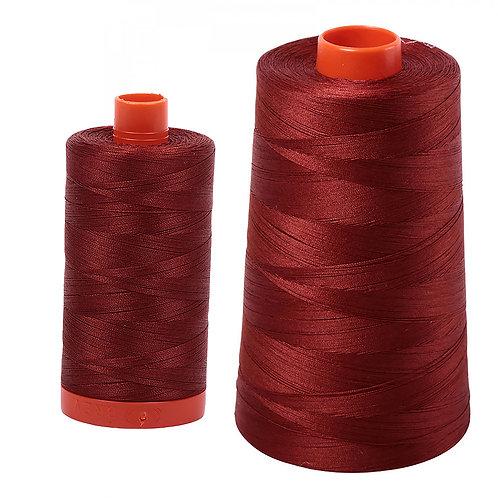 Aurifil Cotton Thread 50wt Rust 2355