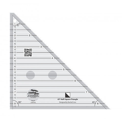 Creative Grids 45 Degree Half-Square Triangle 8-1/2in Quilt Ruler