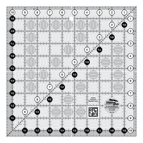 Creative Grids Quilt Ruler10-1/2in Square