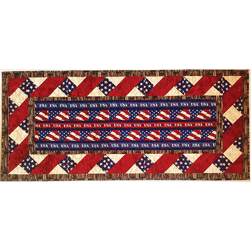 American Honor Table Runner by Cathey Laird