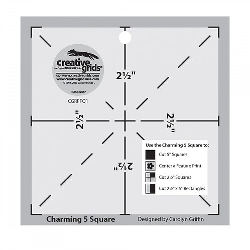 CGRFFQ1-Creative Grids Charming 5 Square Template
