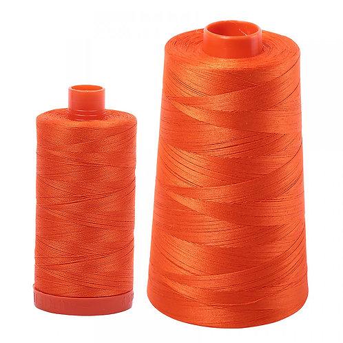 Aurifil Cotton Thread 50wt Neon Orange 1104