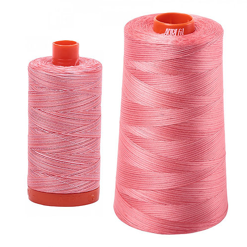 Aurifil Cotton Thread 50wt Variegated Flamingo 4250
