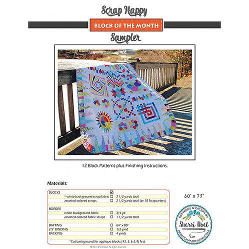 Scrap Happy Sampler, BOM Quillt by Rebecca Mae Designs