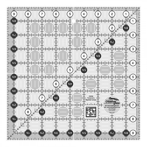 Creative Grids Quilt Ruler 9-1/2in Square