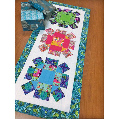 Rolling Stone Table Runner by Camilia Quilts