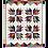 Thumbnail: Scrappy Crazy Bear Paw Quilt in Batiks-Quilt Kit plus Tools