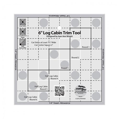 CGRJAWMN6-Creative Grids 6in Log Cabin Trim Tool Template
