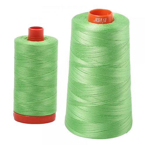 Aurifil Cotton Thread 50wt Shamrock Green 6737