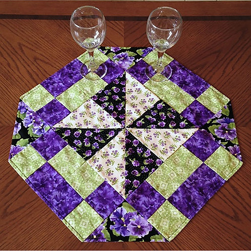 Pinwheel and Patches Table Topper by Cathey Laird