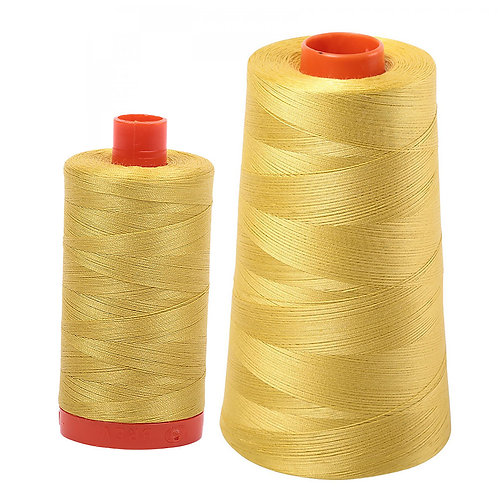 Aurifil Cotton Thread 50wt Gold Yellow 5015